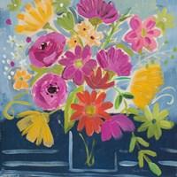 Framed Folk Floral III