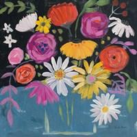 Framed Folk Floral II