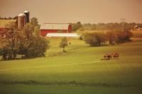 Framed Fall Farm