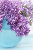 Framed Lilacs in Blue Vase IV