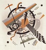 Framed Komposition mit Schachbrettstreifen, 1922