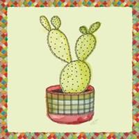 Framed Rainbow Cactus IV