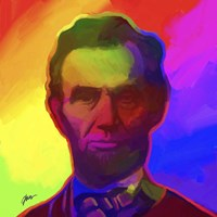 Framed Pop Art Abe Lincoln