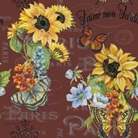 Framed Jaime mon Jardin - Brown