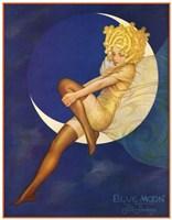 Framed Blue Moon Silk Stockings