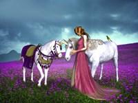 Framed Princess And Unicorns