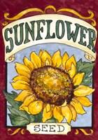 Framed Large Sunflower-Seed Packet