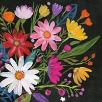 Framed Vintage Floral III Flipped
