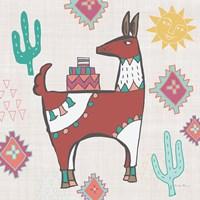 Framed Playful Llamas IV