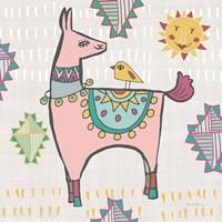 Framed Playful Llamas III