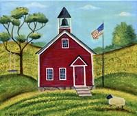 Framed Little Red School House
