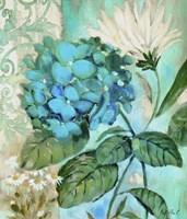Framed Blue Hortensia