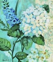 Framed White Hortensia