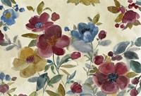 Framed Marsala Flowers