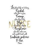 Framed Nurse Prayer