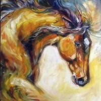 Framed Determined Equine