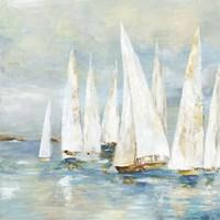Framed White Sailboats