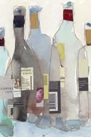 Framed Wine Bottles III