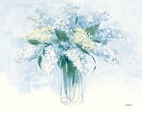 Framed Contemporary Lilac Blue