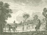 Framed Equestrian Scenes II