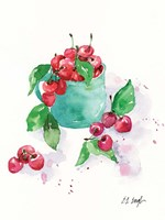 Framed Cup of Cherries
