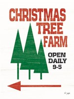 Framed Christmas Tree Farm