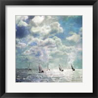 Framed Sailing White Waters