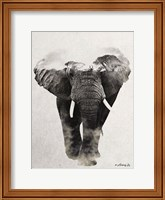 Framed Elephant Walk
