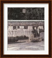 Framed Wrapped Reichstag Project for Berlin