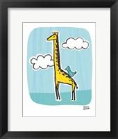 Framed Wild About You Giraffe