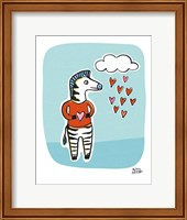 Framed Wild About You Zebra