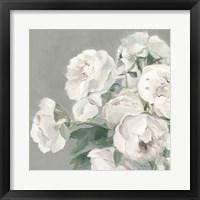 Framed Peonies on Gray