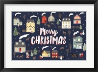 Framed Christmas Village I