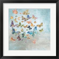 Framed Beautiful Butterflies v3 Square