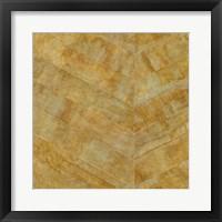 Framed Gilded Herringbone I
