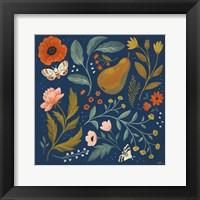 Framed Blue Botanical II