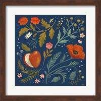 Framed Blue Botanical III