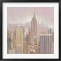 Framed Manhattan in the Mist v2