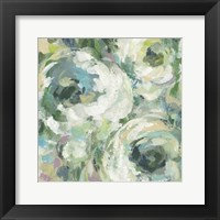 Framed Sage and Lavender Peonies II Light