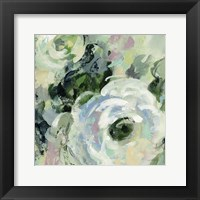 Framed Sage and Lavender Peonies III
