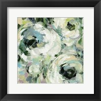 Framed Sage and Lavender Peonies II