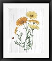 Framed Botanical Bouquet on Wood I