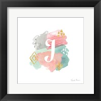 Framed Abstract Monogram J