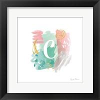 Framed Abstract Monogram C