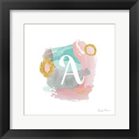 Framed Abstract Monogram A