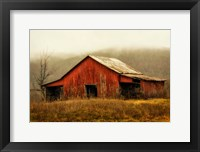 Framed Skylight Barn in the Fog