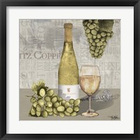 Framed Uncork Wine and Grapes II