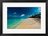 Framed Cayman Islands Beach on Wood