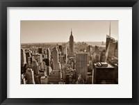 Framed New York Sepia View