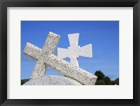 Framed Crosses By The Sea